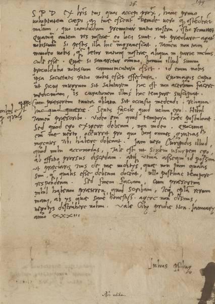 Brief Pflug an Erasmus